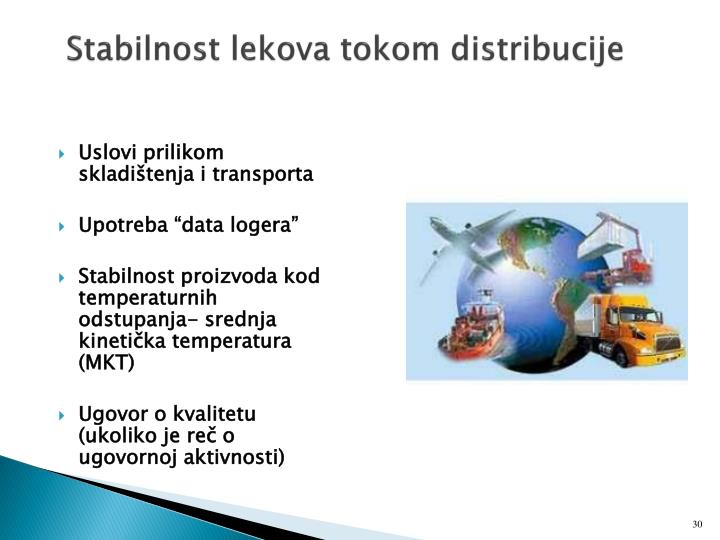 Stabilnost lekova tokom distribucije
