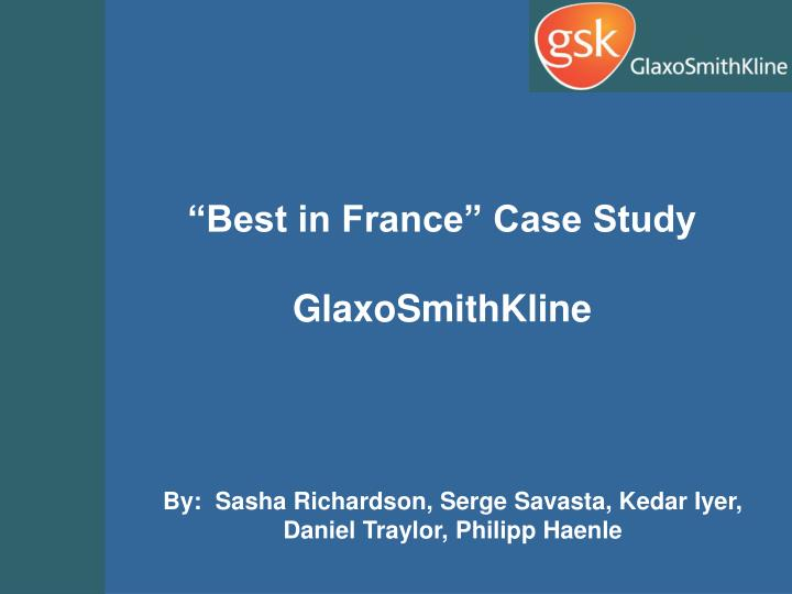 glaxosmithkline transfer pricing case study