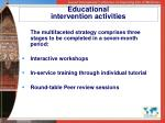 educational intervention activities