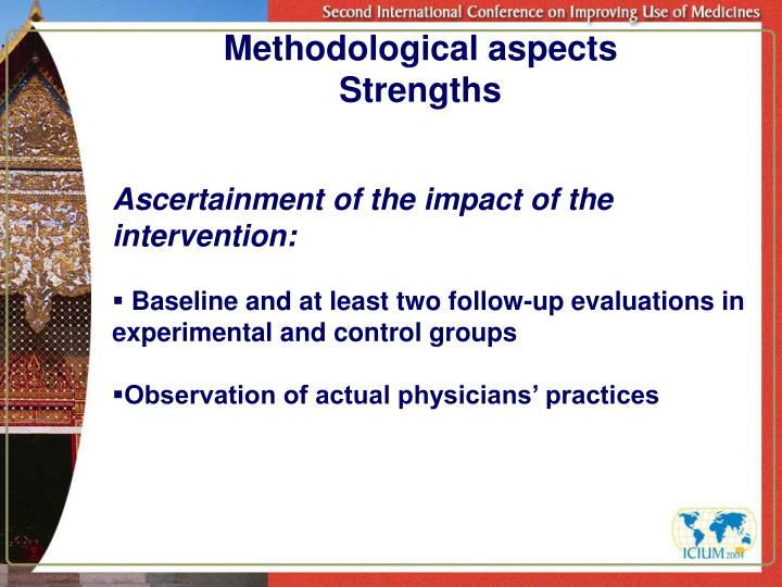 Methodological aspects