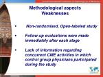 methodological aspects weaknesses