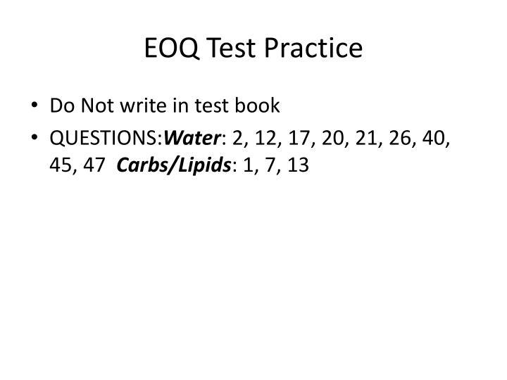 EOQ Test Practice
