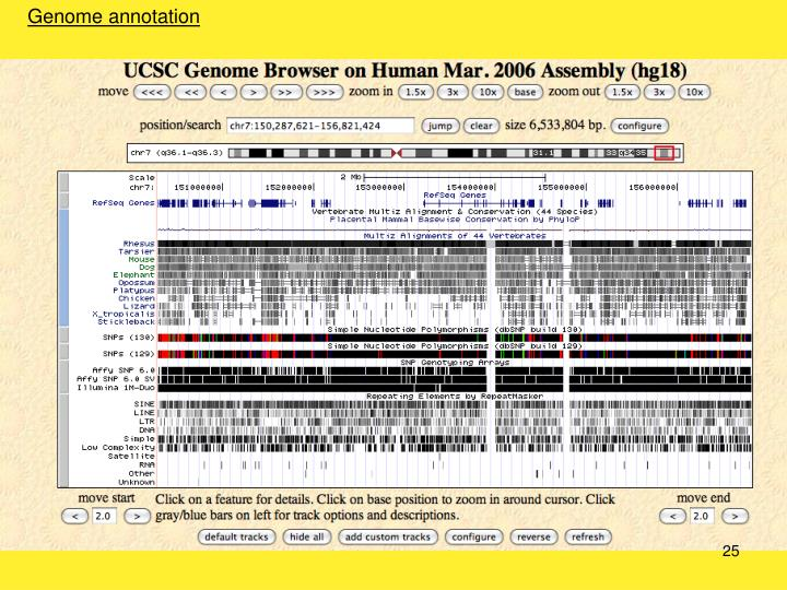 Genome annotation