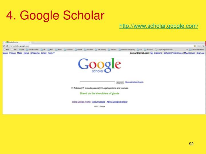 4. Google Scholar
