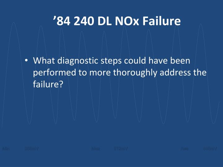 '84 240 DL NOx Failure