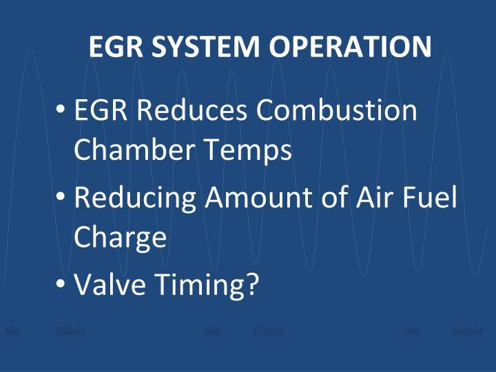 EGR SYSTEM OPERATION
