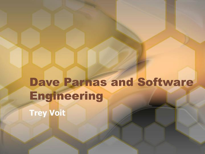 Dave parnas and software engineering
