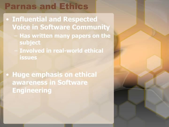 Parnas and Ethics
