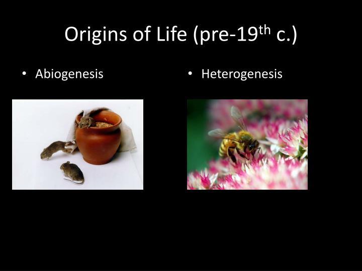 Origins of Life (pre-19
