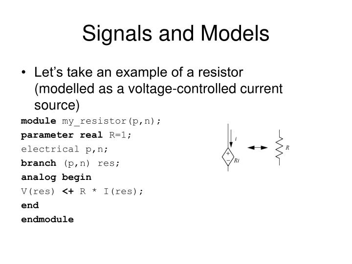 Signals and Models