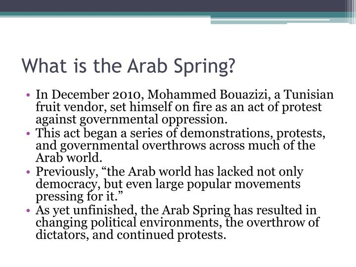 the u s role in arab spring The event set off uprisings across north africa and the middle east known as the arab spring he says the arab world is a religiously conservative place and people generally want to see islam playing an important role in hamid says the us should engage with the islamist.
