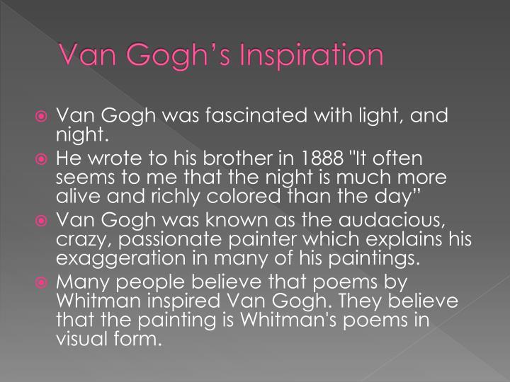 Van Gogh's Inspiration