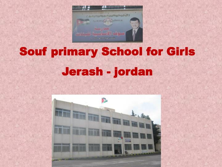 Souf primary school for girls jerash jordan