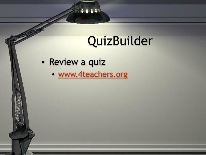 QuizBuilder