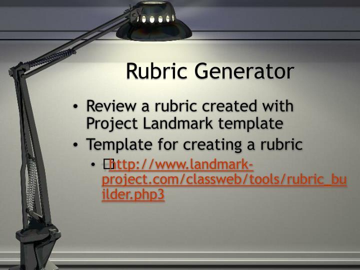 Rubric Generator