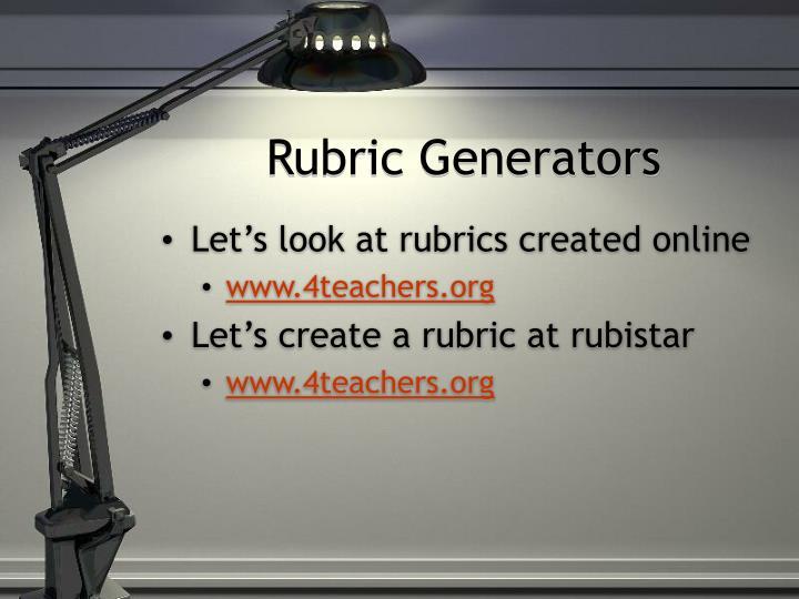 Rubric Generators