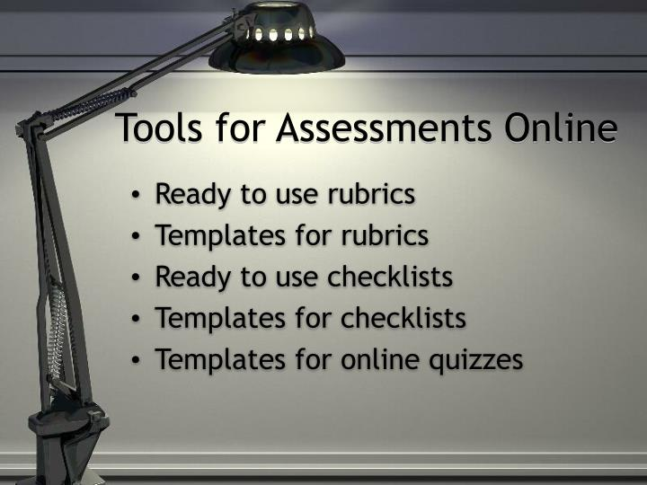 Tools for Assessments Online