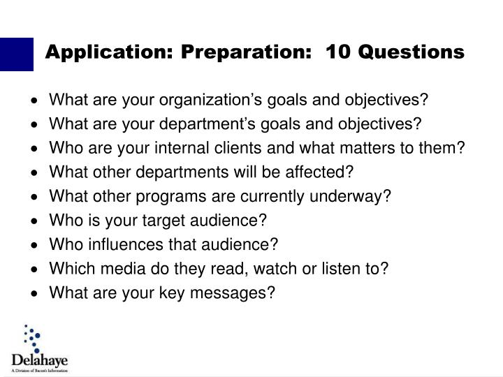 What are your organization's goals and objectives?