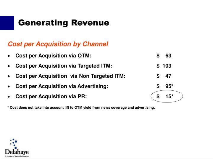 Cost per Acquisition via OTM:$    63