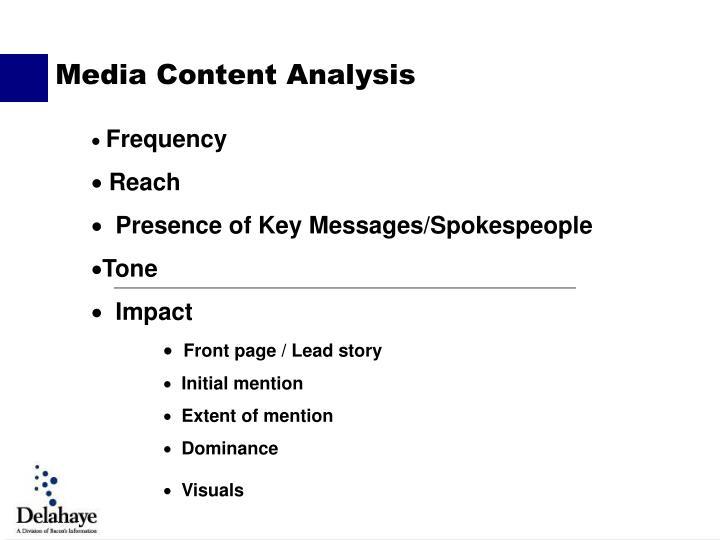 Media Content Analysis