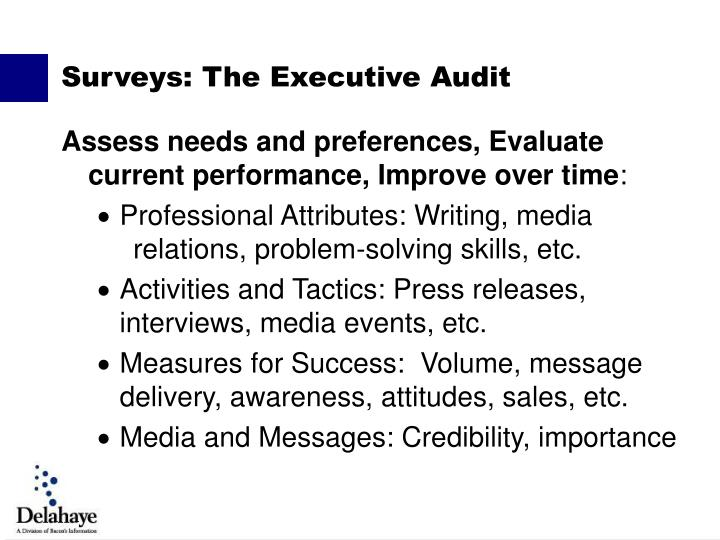 Assess needs and preferences, Evaluate current performance, Improve over time