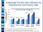 inadequate prenatal care utilization by race ethnicity and poverty index