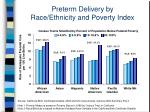 preterm delivery by race ethnicity and poverty index