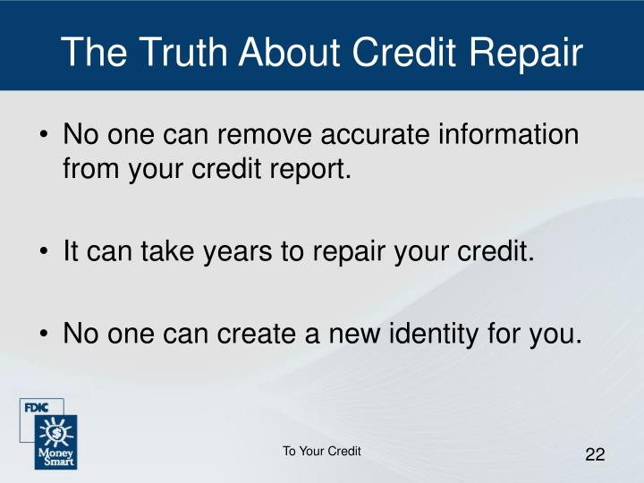 The Truth About Credit Repair