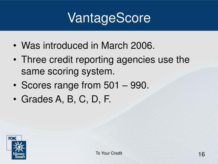 VantageScore