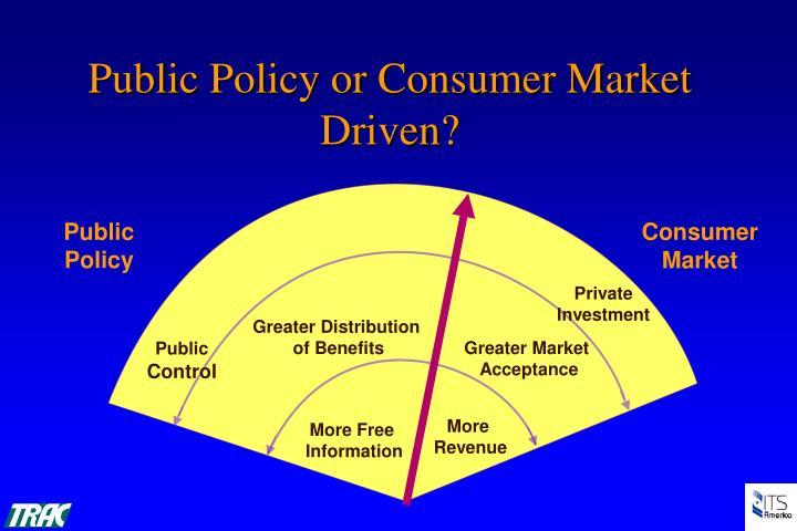 Public Policy or Consumer Market Driven?