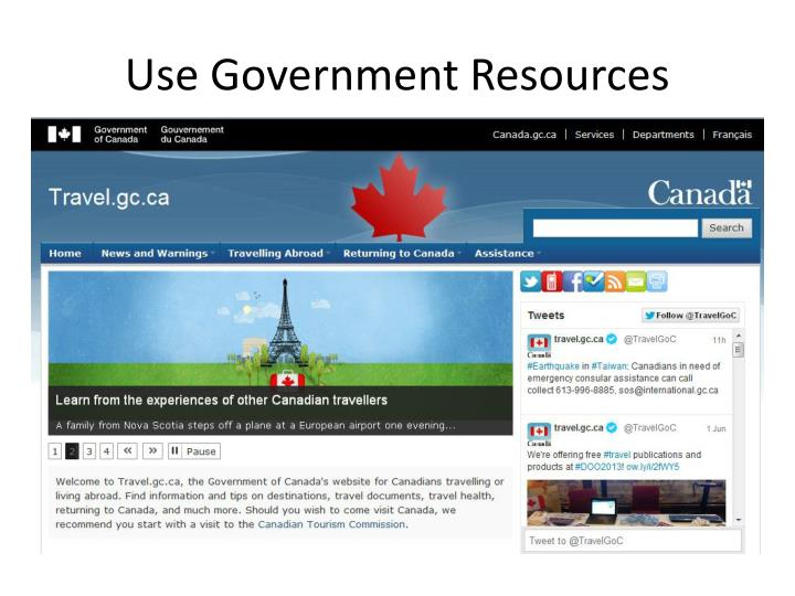 Use Government Resources