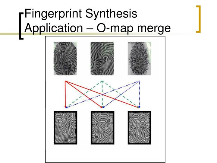 Fingerprint Synthesis Application – O-map merge