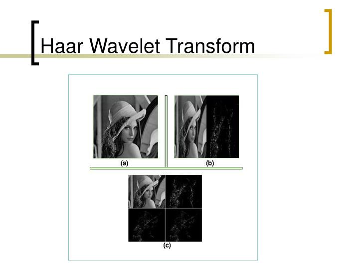 Haar Wavelet Transform