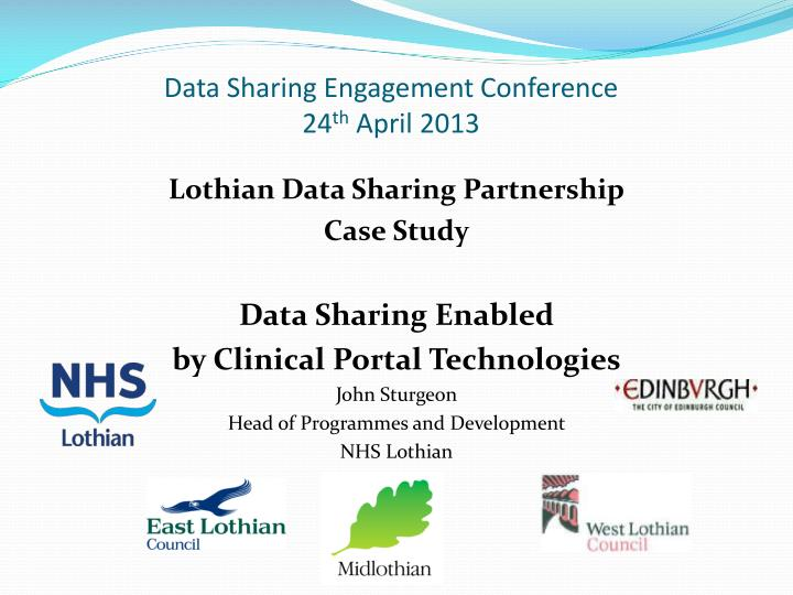 Data Sharing Engagement Conference