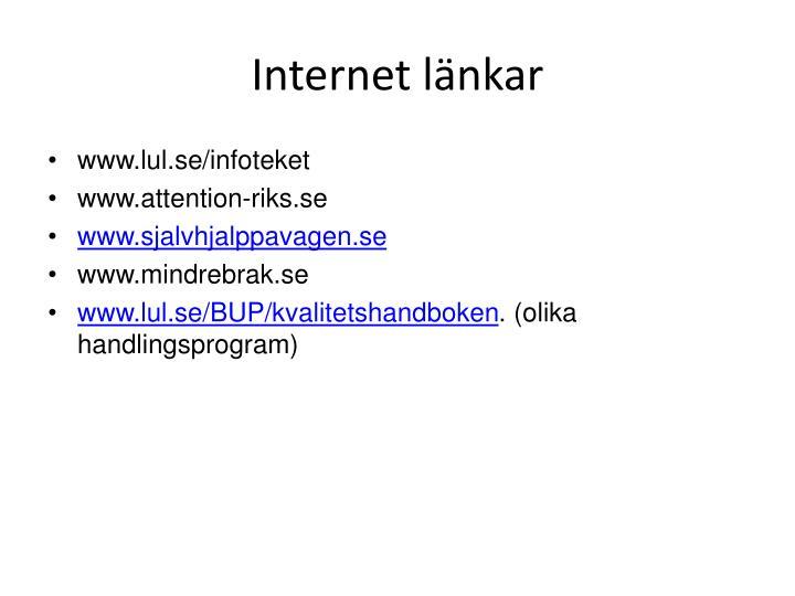 Internet länkar