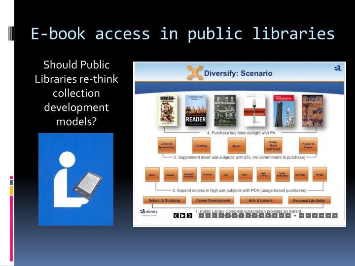E-book access in public libraries