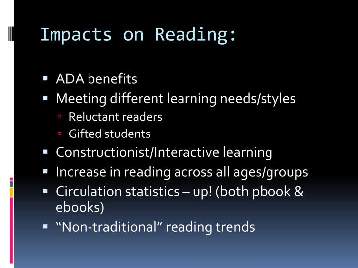 Impacts on Reading: