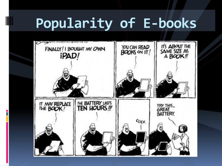 Popularity of E-books