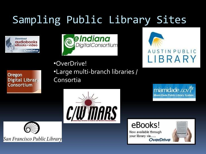 Sampling Public Library Sites