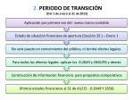 2 periodo de transici n del 1 de enero al 31 de 2015