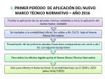 3 primer per odo de aplicaci n del nuevo marco t cnico normativo a o 2016