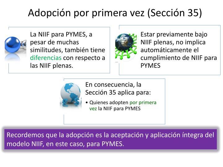 Adopción por primera vez (Sección 35)