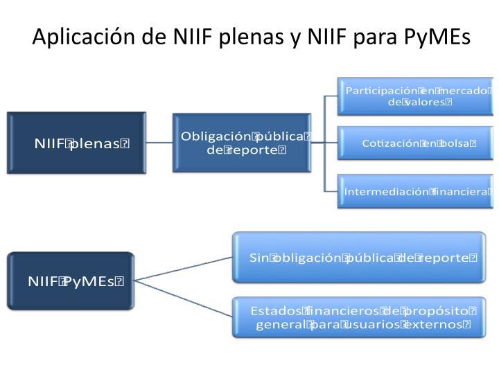 Aplicación de NIIF plenas y NIIF para