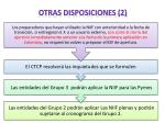 otras disposiciones 2