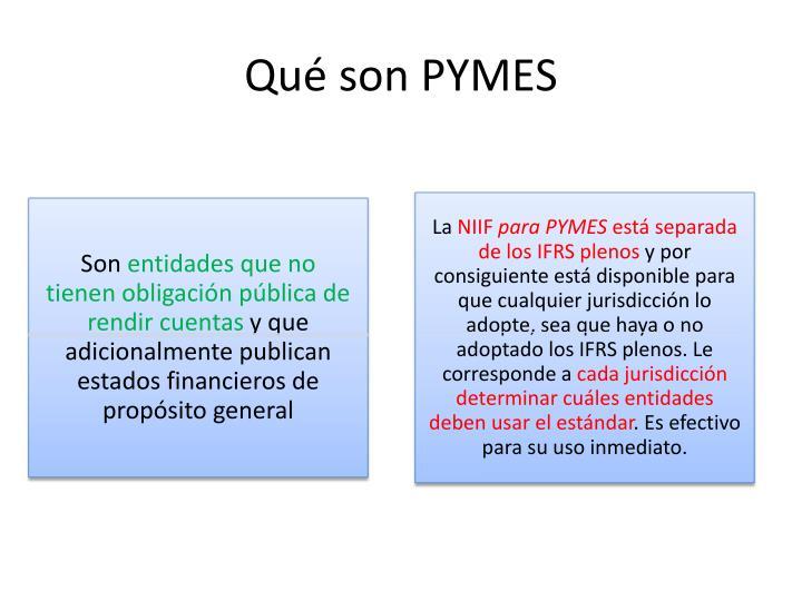Qué son PYMES