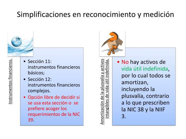 Simplificaciones en reconocimiento