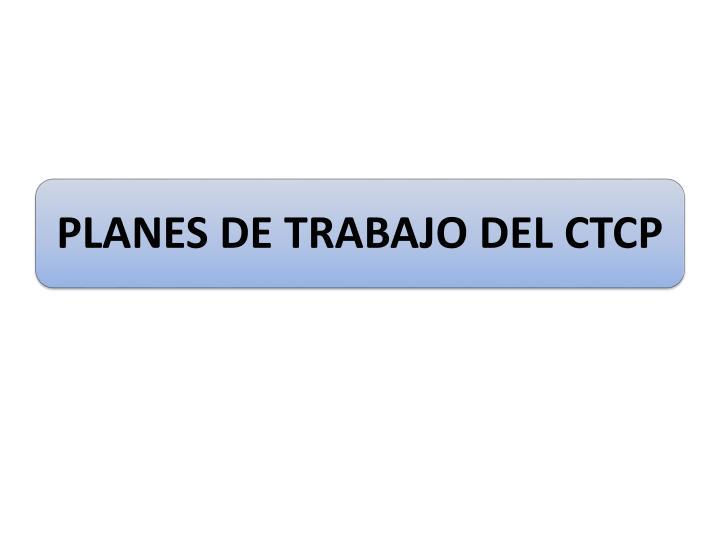 PLANES DE TRABAJO DEL CTCP