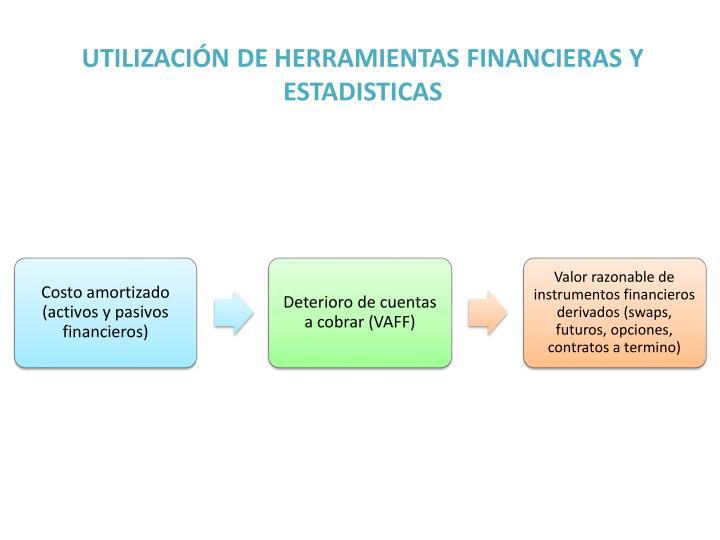 UTILIZACIÓN DE HERRAMIENTAS FINANCIERAS Y ESTADISTICAS