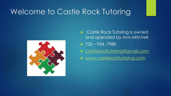Welcome to Castle Rock Tutoring