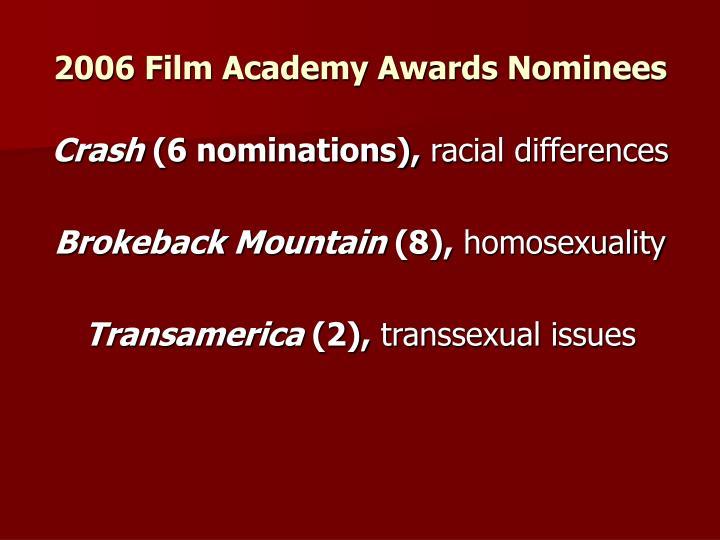 2006 Film Academy Awards Nominees